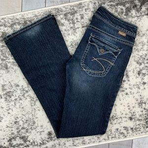 Silver Jeans Pioneer button flap pockets bootcut